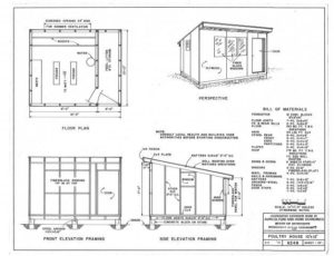 Verwonderend Zelf kippenhok maken? Klik hier voor een goede bouwtekening! HF-53