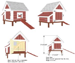 bouwtekening kippenhok 2