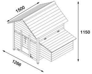 bouwtekening kippenhok