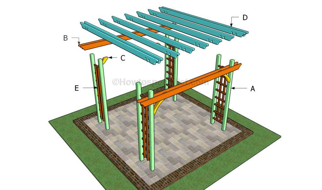 pergola bouwen 2