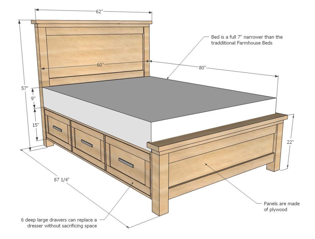 Verwonderlijk Bouwtekening steigerhout bed nodig? Hier vind je alles wat je zoekt! UZ-93
